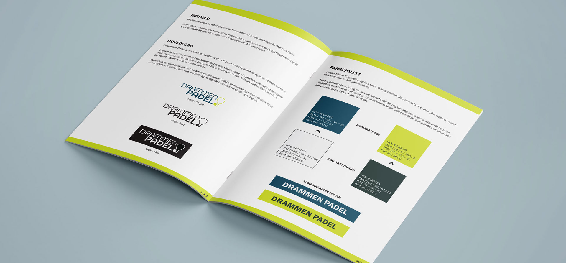 Design og bedriftsidentitet for Drammen Padel