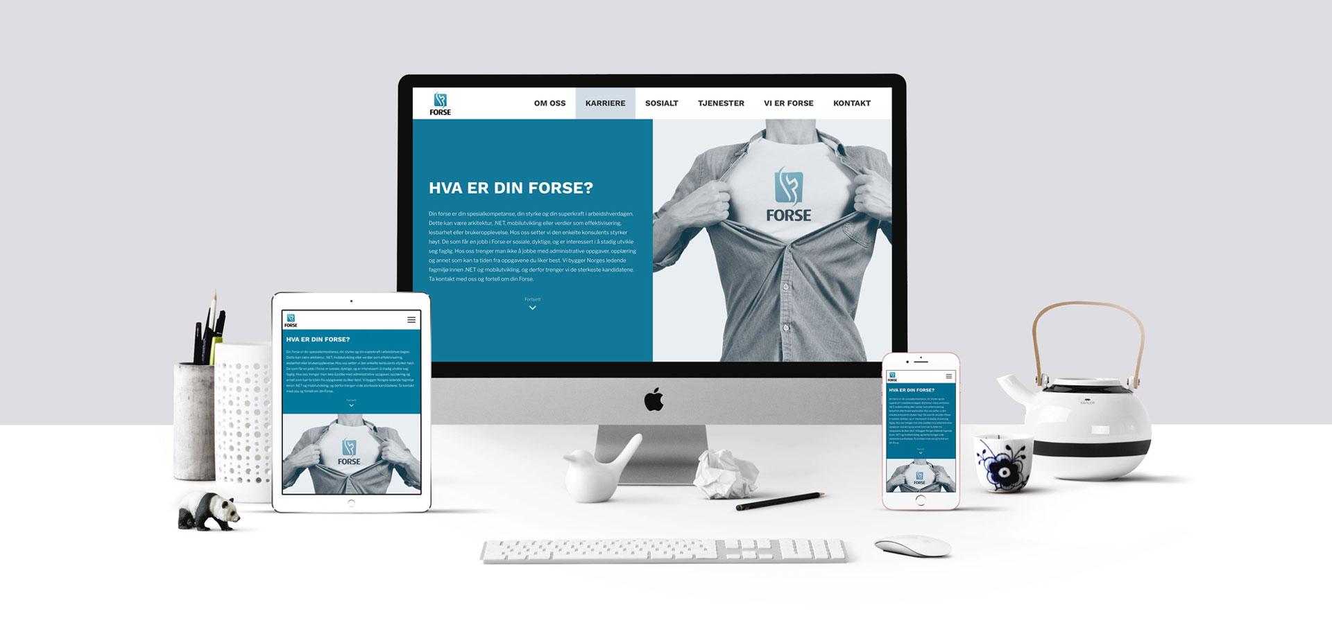 Nytt design på nettsider for Forse - laget av Ide Systemer