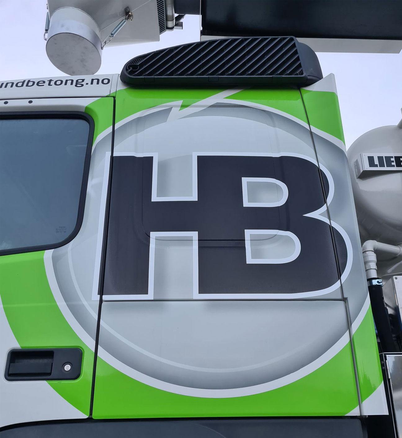 Logo på lastebil
