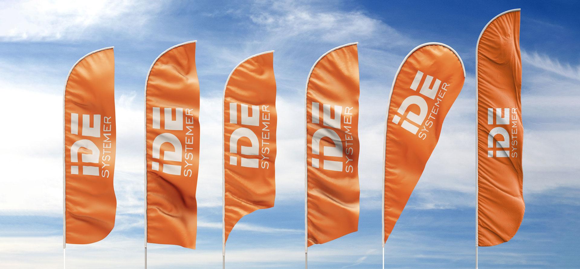 Vi har et stort utvalg av beachflagg